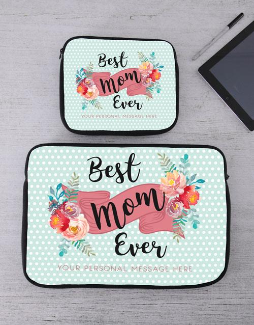 birthday Personalised Best Mom Tablet or Laptop Sleeve