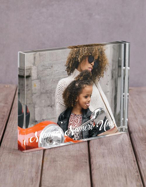 mothers-day Personalised Mamas Numero Uno Acrylic Block