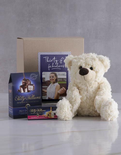birthday Personalised Birthday Teddy and Nougat Gift