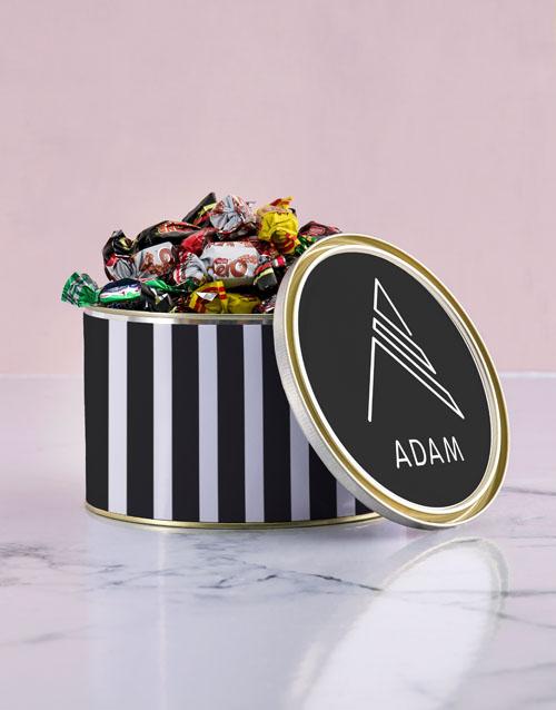 Personalised Monogram Chocolate Passions Tin