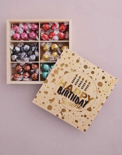 birthday Personalised Gold Birthday Box Of Chocs
