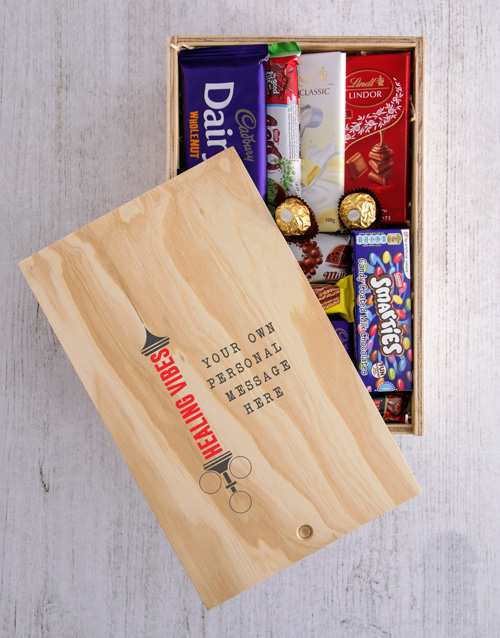Personalised Healing Vibes Printed Chocolate Crate