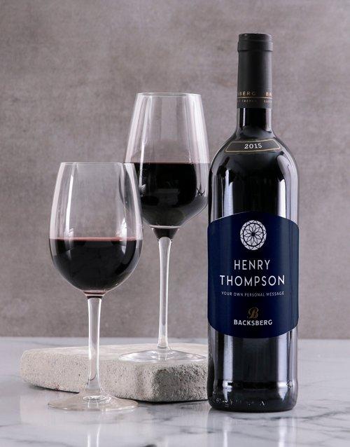 Vintage Backsberg Personalised Wine