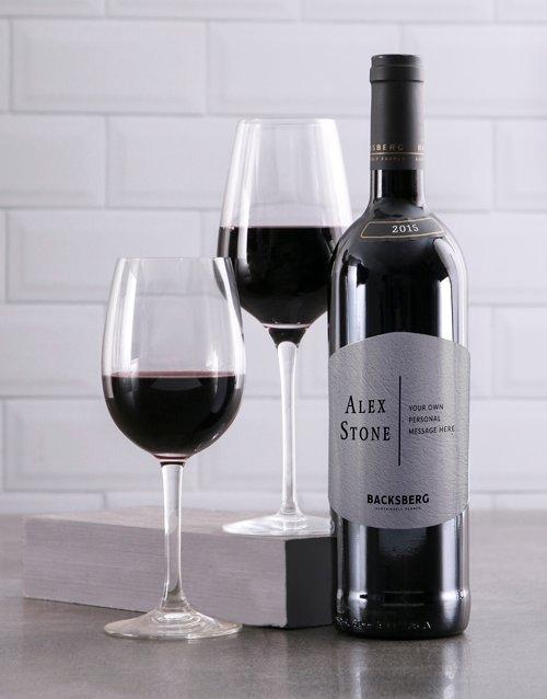 Modernist Backsberg Personalised Wine