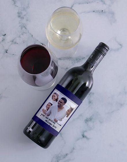 Scrapbook Photo Personalised Wine