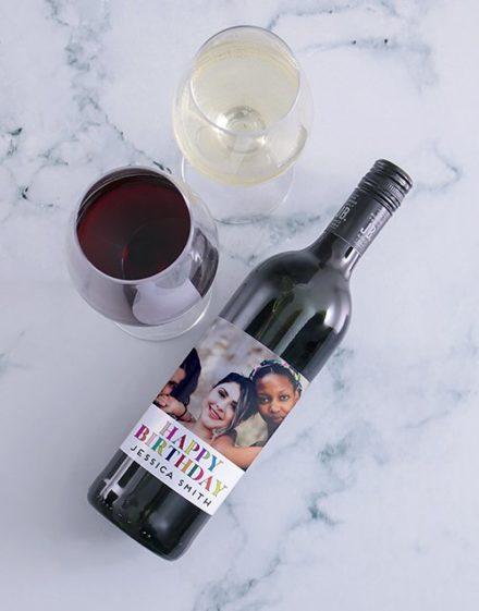 Birthday Photo Personalised Wine