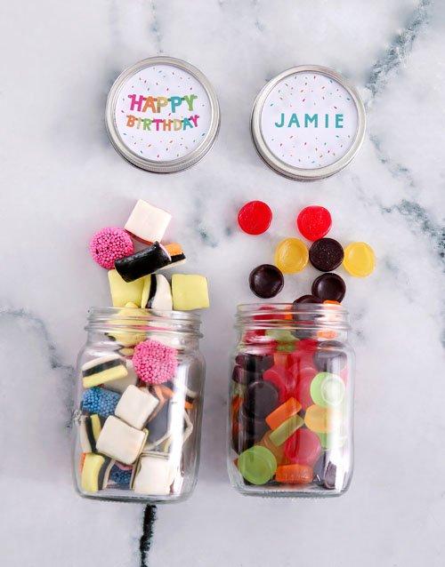birthday Personalised Birthday Mini Sweets Jars