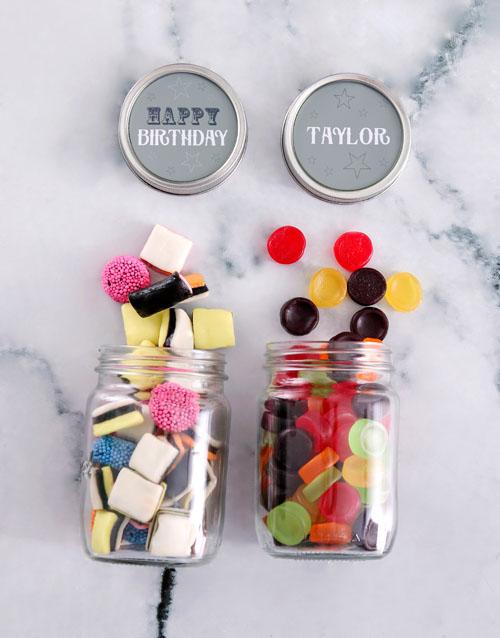 birthday Personalised Happy Birthday Mini Sweets Jars
