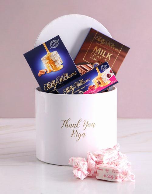 Personalised Thank You Nougat Box
