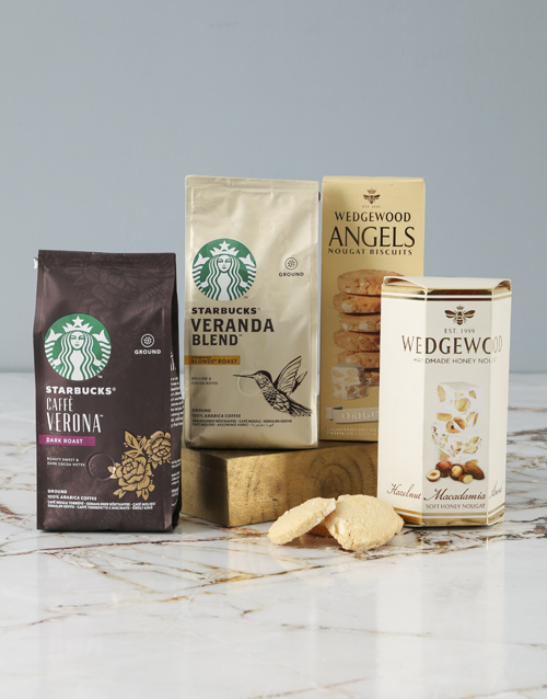 mothers-day Starbucks and Wedgewood Hamper