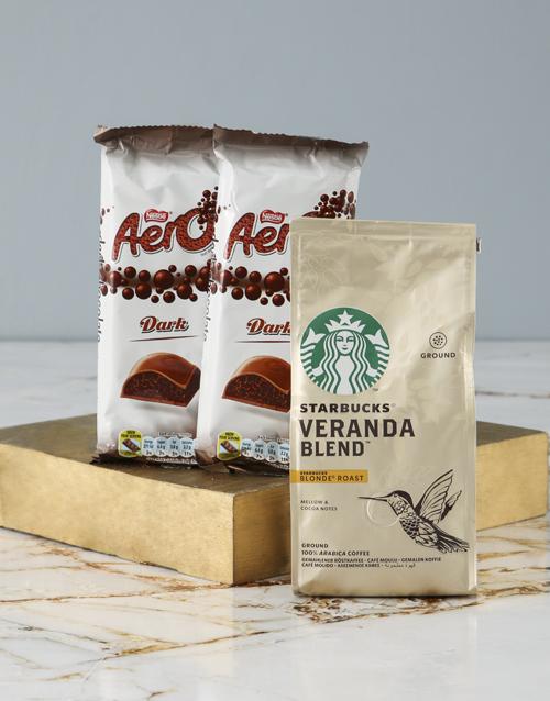 mothers-day Starbucks and Aero Hamper