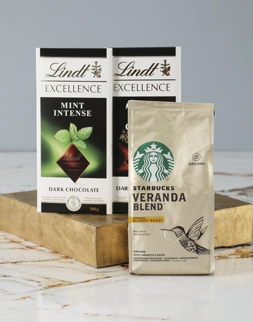 mothers-day Starbucks and Lindt Slab Hamper