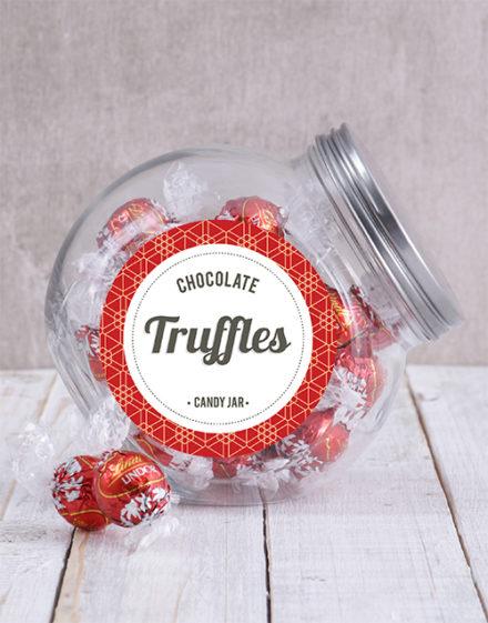 birthday Lindt Chocolate Ball Candy Jar