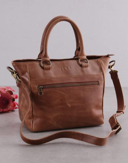 birthday Zemp Paris Tan Leather Handbag