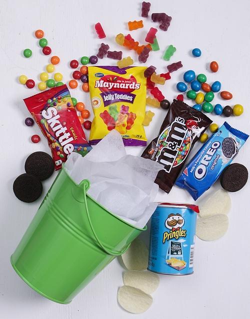 mothers-day Green Bucket of Sweet Treats