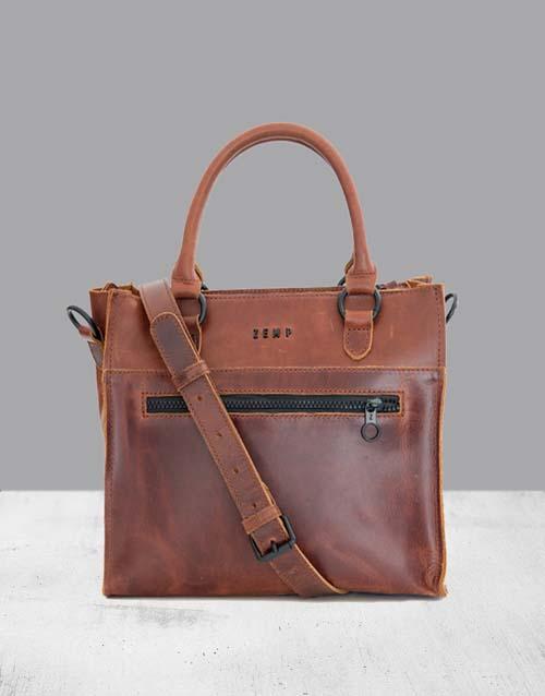 mothers-day Zemp Bastille Chestnut Handbag