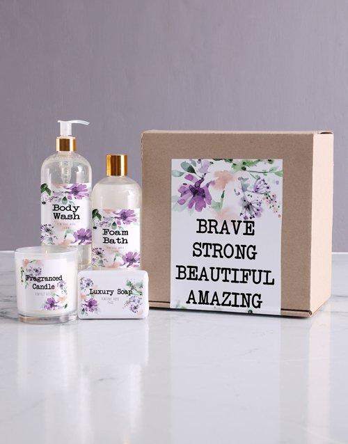 birthday Brave Bath Kraft Gift Set