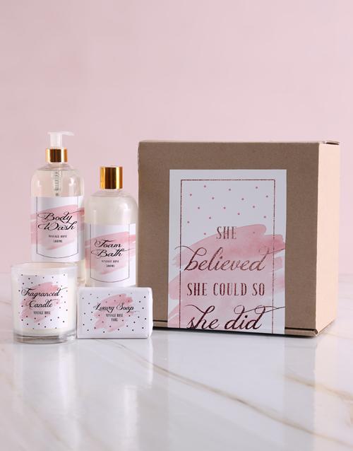 birthday She Believed Bath Kraft Gift Set
