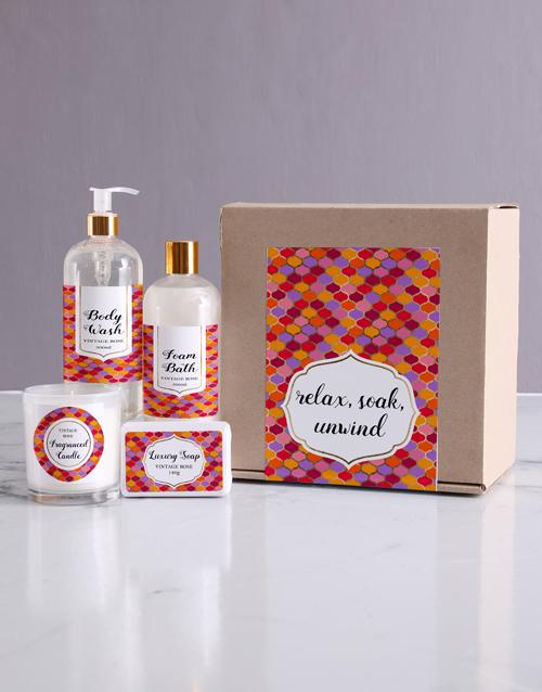 birthday Relax Bath Kraft Gift Set