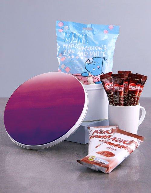 mothers-day Purple Hue Hot Chocolate Tin Hamper