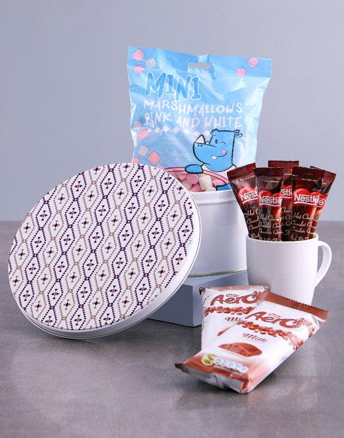 mothers-day Purple Diamond Hot Chocolate Tin Hamper