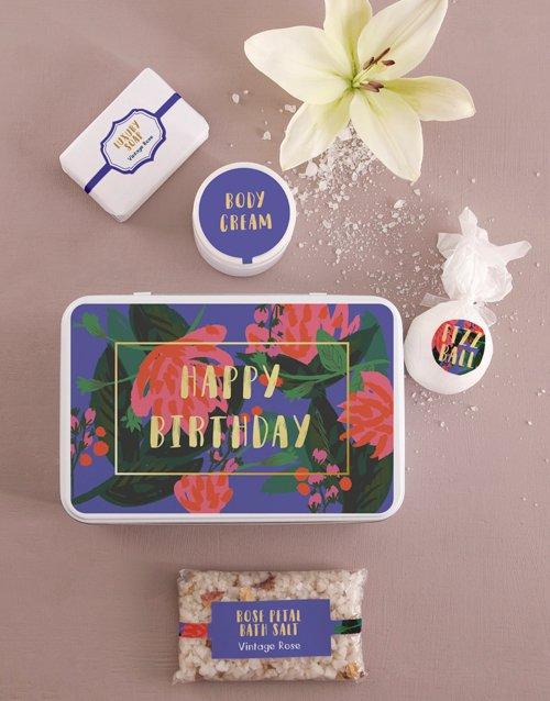 birthday Birthday Bath and Body Tin