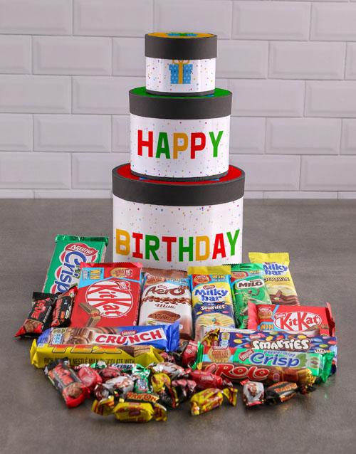 birthday Birthday Wrap Around Chocolate Tower Box