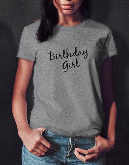 birthday Grey Birthday Girl T Shirt
