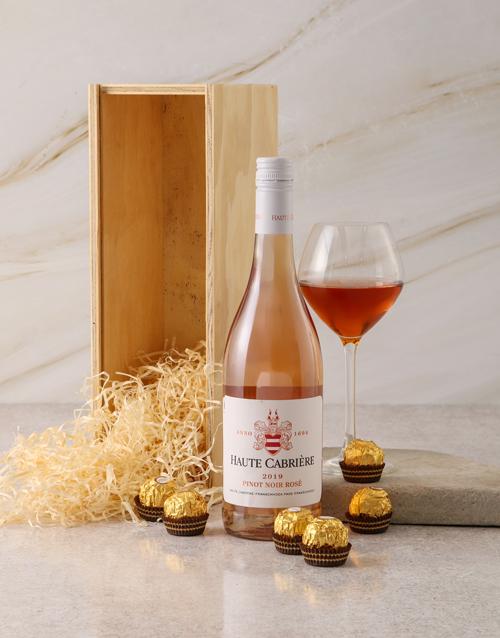 birthday Haute Cabriere and Ferrero Rocher Gift Box