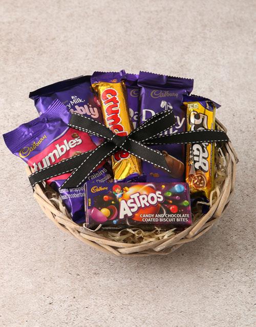 mothers-day Cadbury Chocolate Basket Hamper