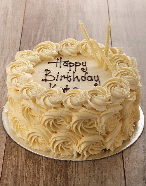 cakes White Rose Cake