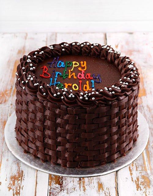cakes Simple Chocolate Birthday Cake