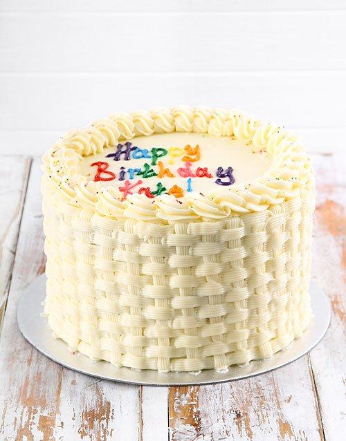 cakes Simple Vanilla Birthday Cake