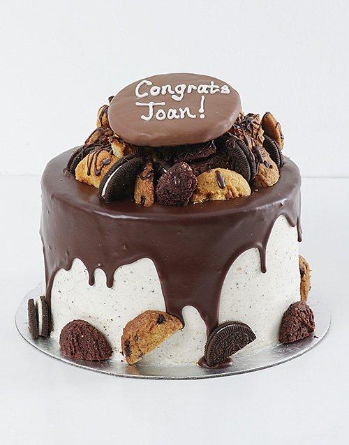 cakes Personalised Cookie and Brownie Drip Cake
