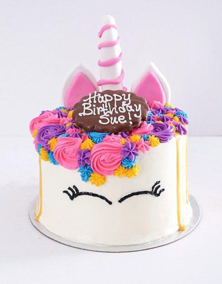 cakes Personalised Caramel Unicorn Drip Cake