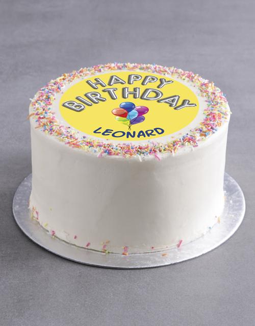 cakes Personalised Birthday Balloons Cake