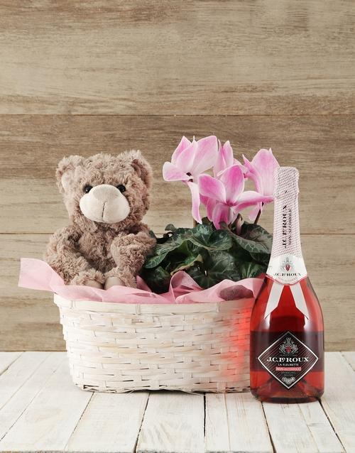 baby Pink Cyclamen Spoils Basket