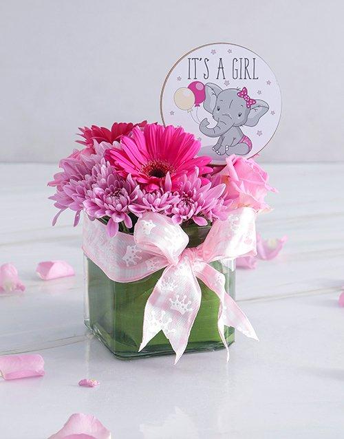 baby Baby Girl Square Vase