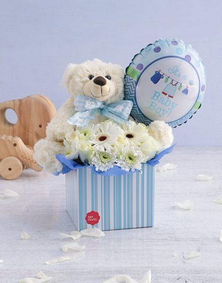 baby Baby Boy Flower Gift Box