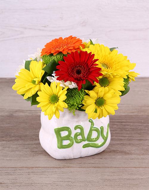 baby Neutral Gender Ceramic Baby Bag Arrangement