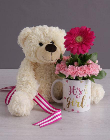 baby Its a Girl Daisy in a Mug