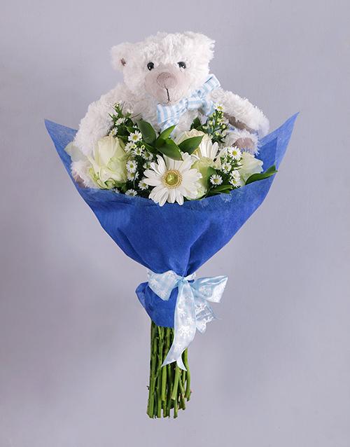 baby Baby Boy Teddy Bouquet