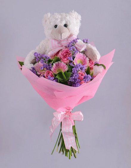 baby Baby Girl Teddy Bouquet