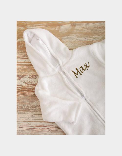 baby Personalised Fleece Baby Sleeping Jacket