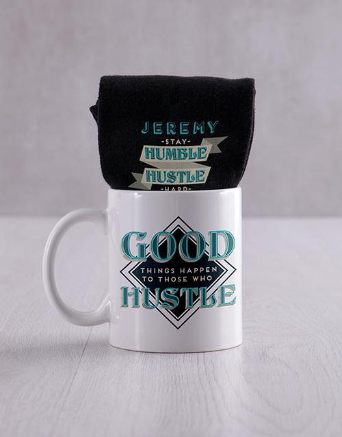 fathers-day Personalised Hustle Socks And Mug