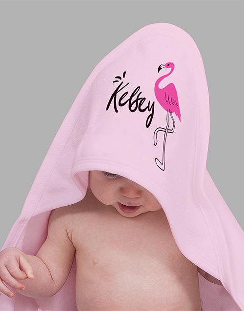 baby Personalised Flamingo Baby Gift Hamper