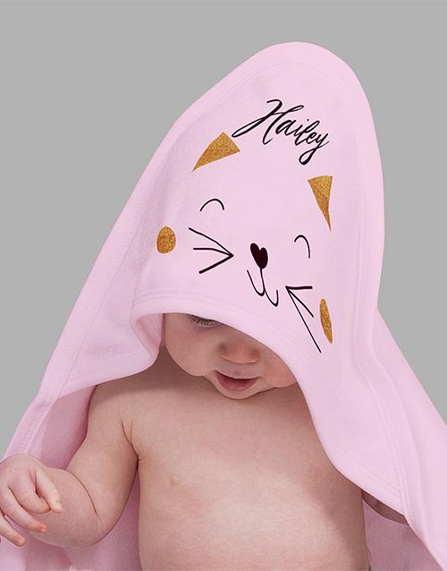 baby Personalised Kitten Baby Gift Hamper
