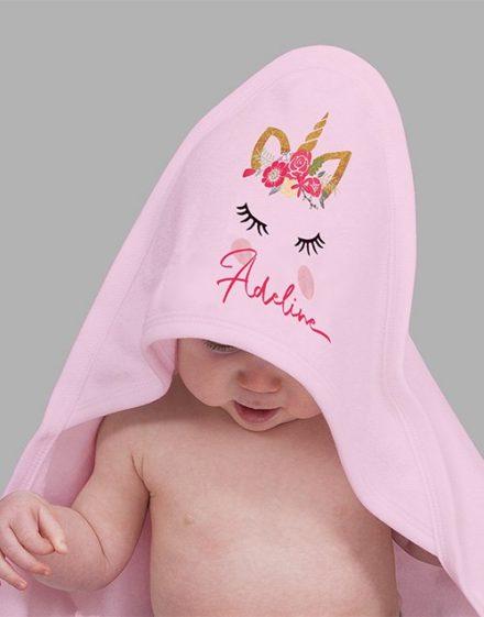 baby Personalised Unicorn Baby Gift Hamper