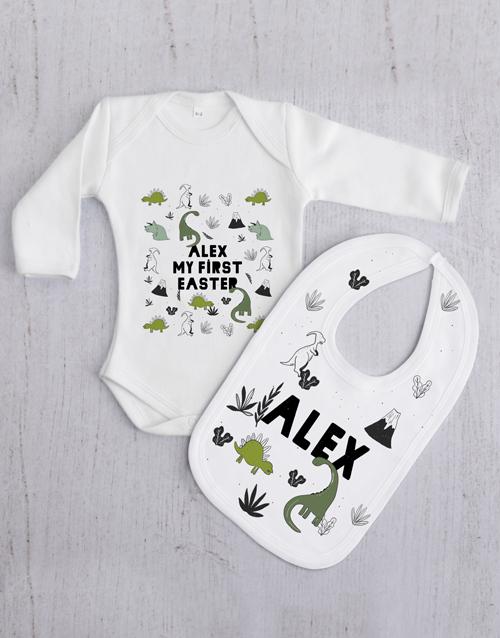 baby Personalised Dino Gift Set