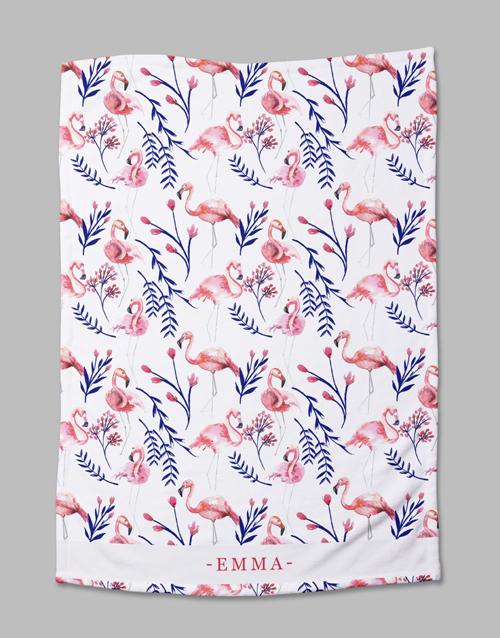 baby Personalised Flamingo Bed Set